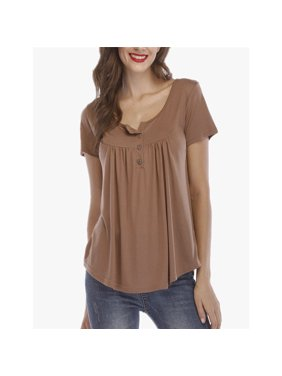 42aea93d1fd Product Image Summer Women Casual T-shirts Button Loose Tops T-shirts Blouse