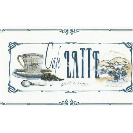 879411 Mocha Java, Cafe Latte, Vanilla Nut Classico Coffee Wallpaper Border