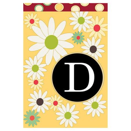 toland home garden floral monogram flag toland home garden floral monogram flag