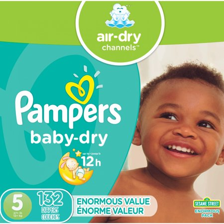 Pampers Baby-Dry Diapers Size 5 132 Count