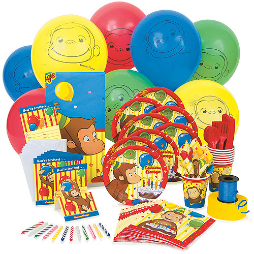 curious george party supplies kit for 8 walmartcom
