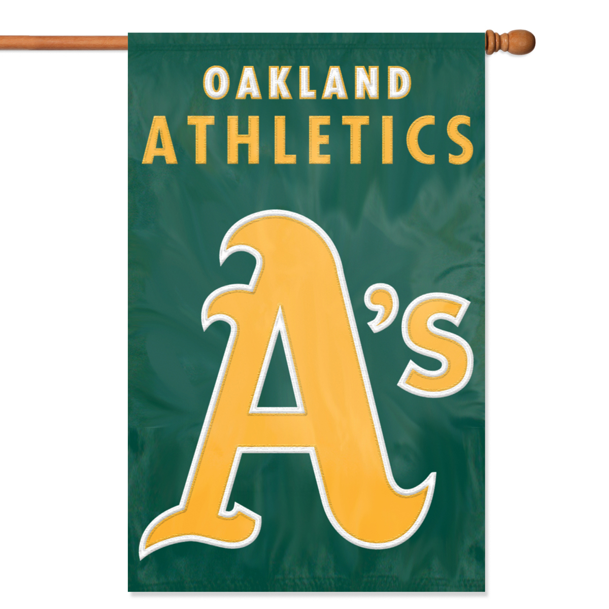 "OAKLAND A'S 44""x28"" 2-SIDED BANNER FLAG"