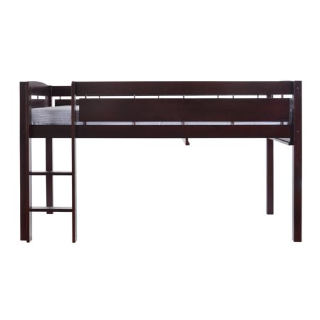 Canwood Whistler Junior Loft Bed Twin Size Wood Espresso
