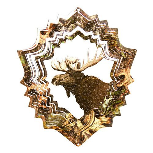 ***DISCONTINUED***Iron Stop Mossy Oak Moose Wind Spinner