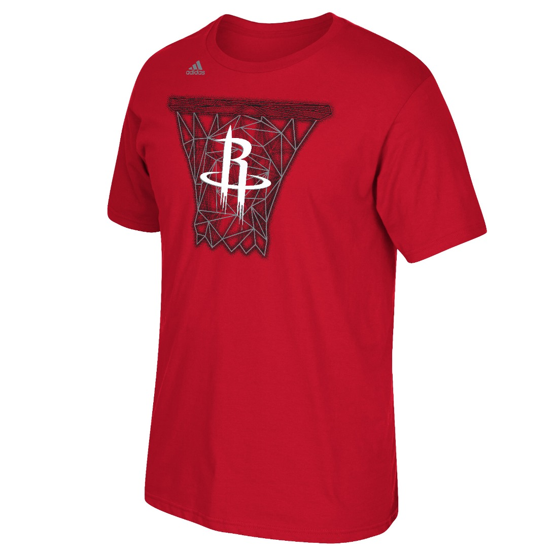 "Houston Rockets Adidas NBA ""Net Web"" Men's Short Sleeve T-Shirt"