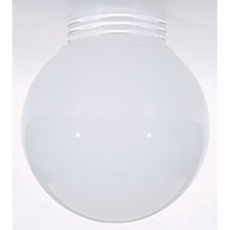 Opal Gloss Shade (Replacement for 50/216 OPAL BALL GLASS GLOBE SHADE 6 INCH DIAMETER 3 11/64 INCH SCREW FITTER INSIDE SPRAYED WHITE)