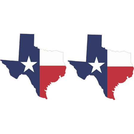 2x 3in x 3in Die Cut Texas State Flag Sticker Vinyl Cup Decal Car Stickers