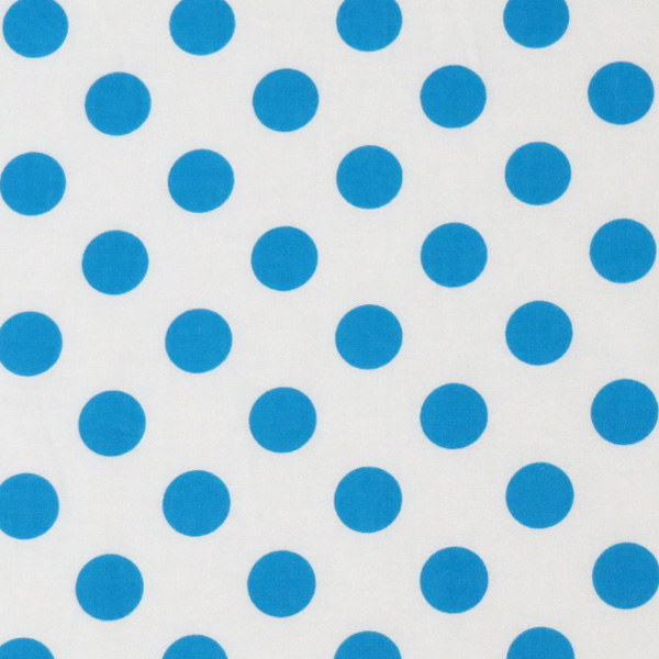 SheetWorld Fitted Bassinet Sheet - Turquoise Polka Dots