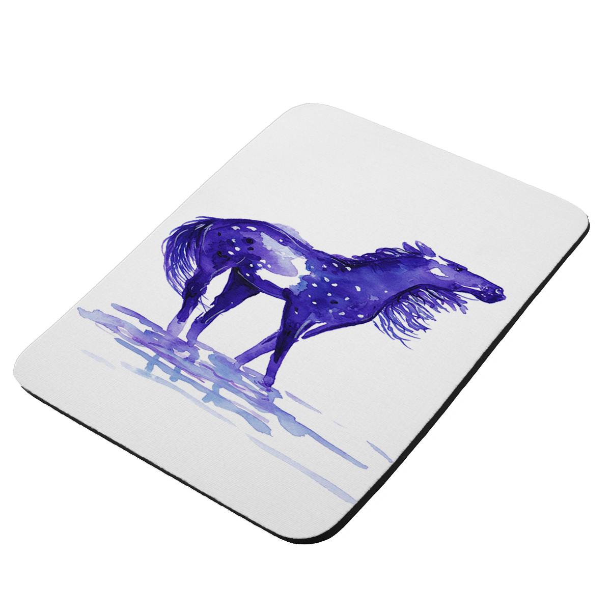 Abstract Snowflake Appaloose in Purple Horse Art by Denise Every - KuzmarK Mousepad / Hot Pad / Trivet