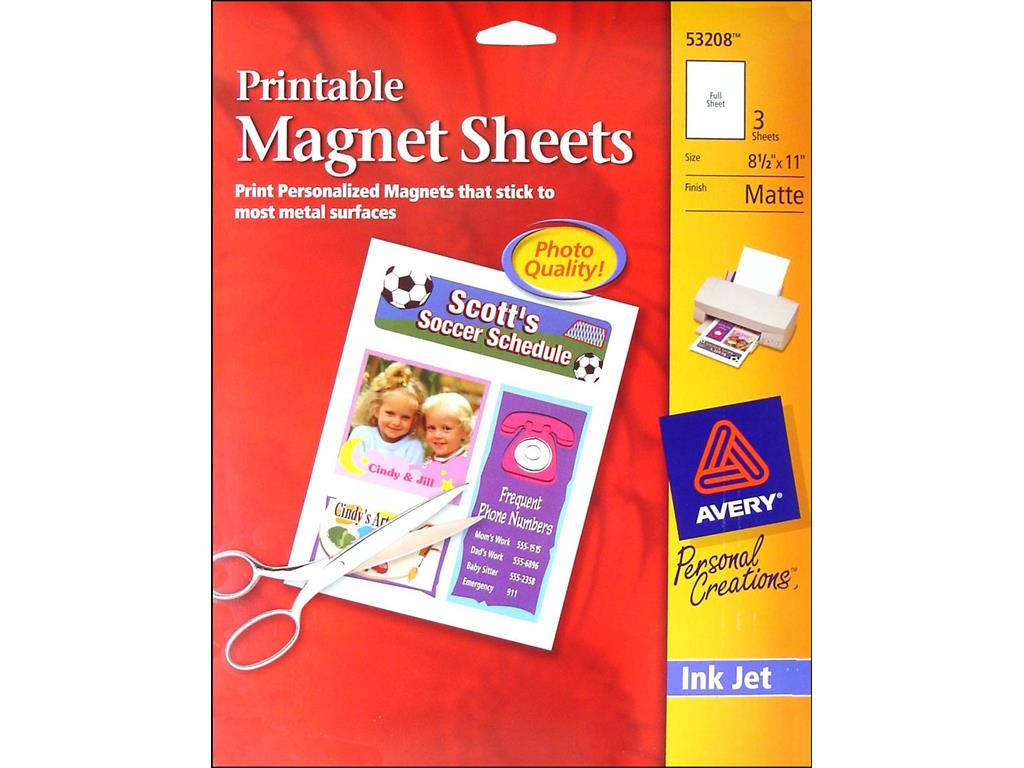 photograph relating to Printable Magnet Sheets titled Avery Printable Magnet Sheets 8.5x11 3computer system