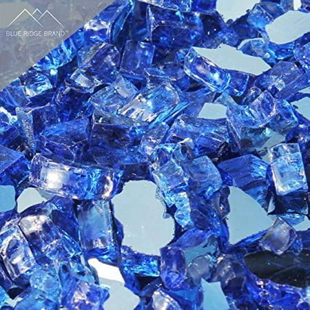 Fire Pit Glass - Cobalt Blue Reflective Fire Glass 1/2