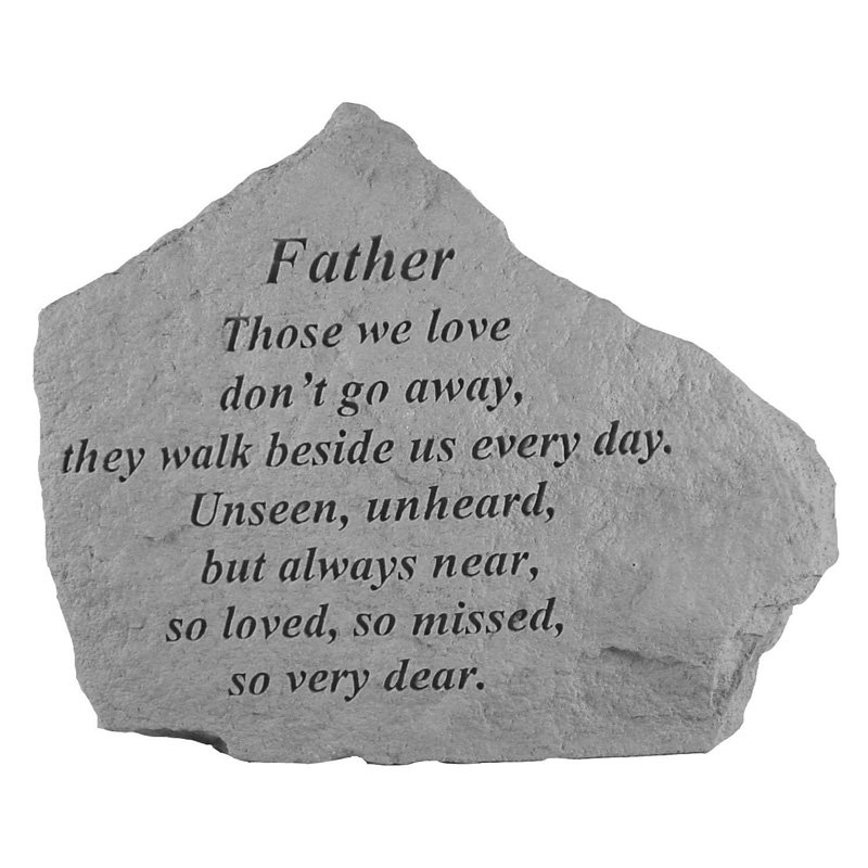 Those We Love Don't Go Away Memorial Stone With Personalized Header