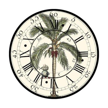 Antique Palm Clock Print Wall Art By Vision Studio (Antique Palm Frame Art Print)