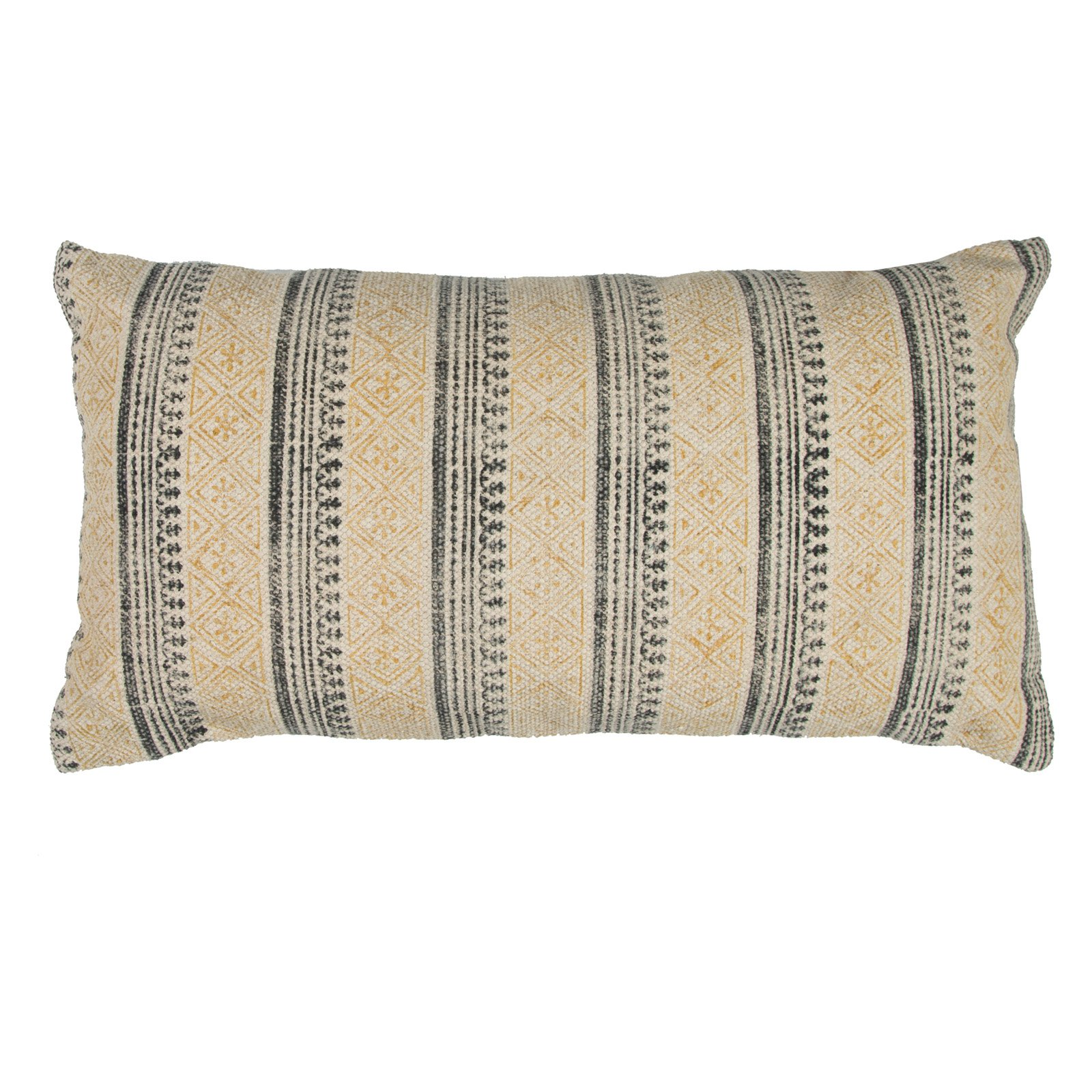 Rizzy Home Vertical Stripe  14X26Cottondecorative filled pillow