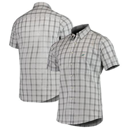 Miami Dolphins Antigua Woven Button-Down Shirt - (Dolphins Mini Button)