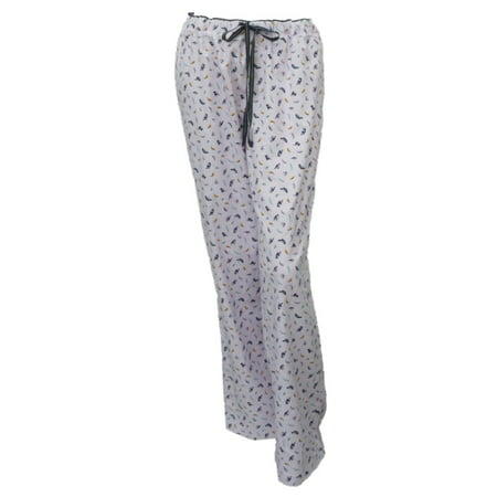 Soft Sensations Women Purple Bird Print Flannel Sleep Pants PJs Pajama Bottom