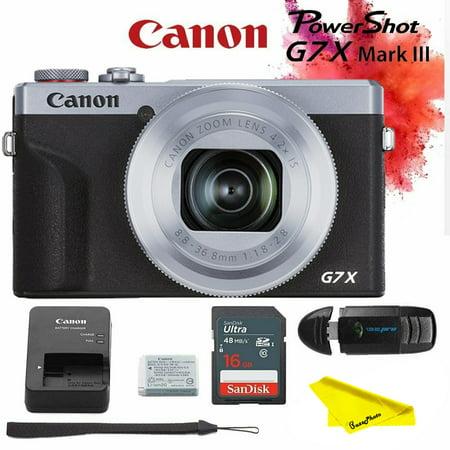 Canon PowerShot G7 X Mark III Digital Camera (Silver) +Buzz-Photo Kit