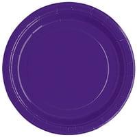 Dark Purple Paper Dessert Plates, 7in, 20ct