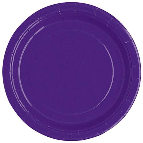 "7"" Deep Purple Dessert Plates, 20pk"