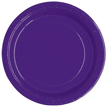 Paper Plates, 7 in, Dark Purple, 20ct](Graduation Plates)