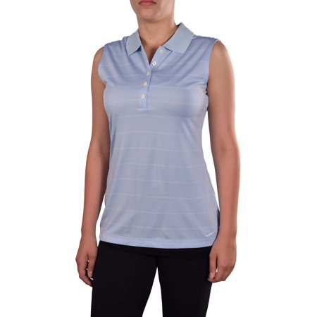 Nike women 39 s dri fit sleeveless tech golf shirt sky blue for Women s dri fit golf shirts