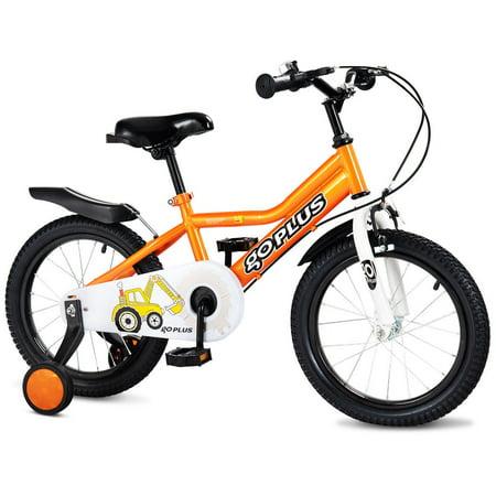 Costway 16'' Children Kids Bike Boy Girl Bicycle Training Wheels Toddler Ride New (Halloween Bike Ride London)