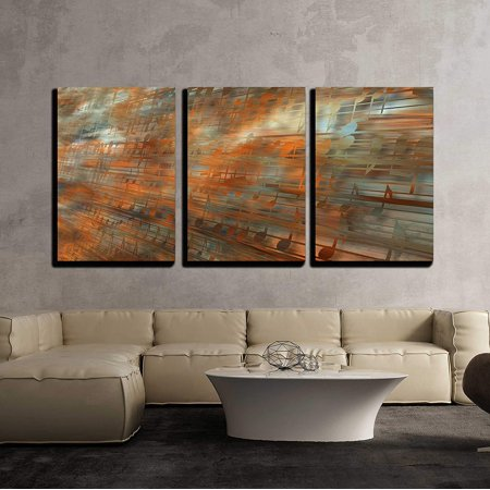 wall26 - 3 Piece Canvas Wall Art - Musical Background - Modern Home Decor Stretched and Framed Ready to Hang - 16