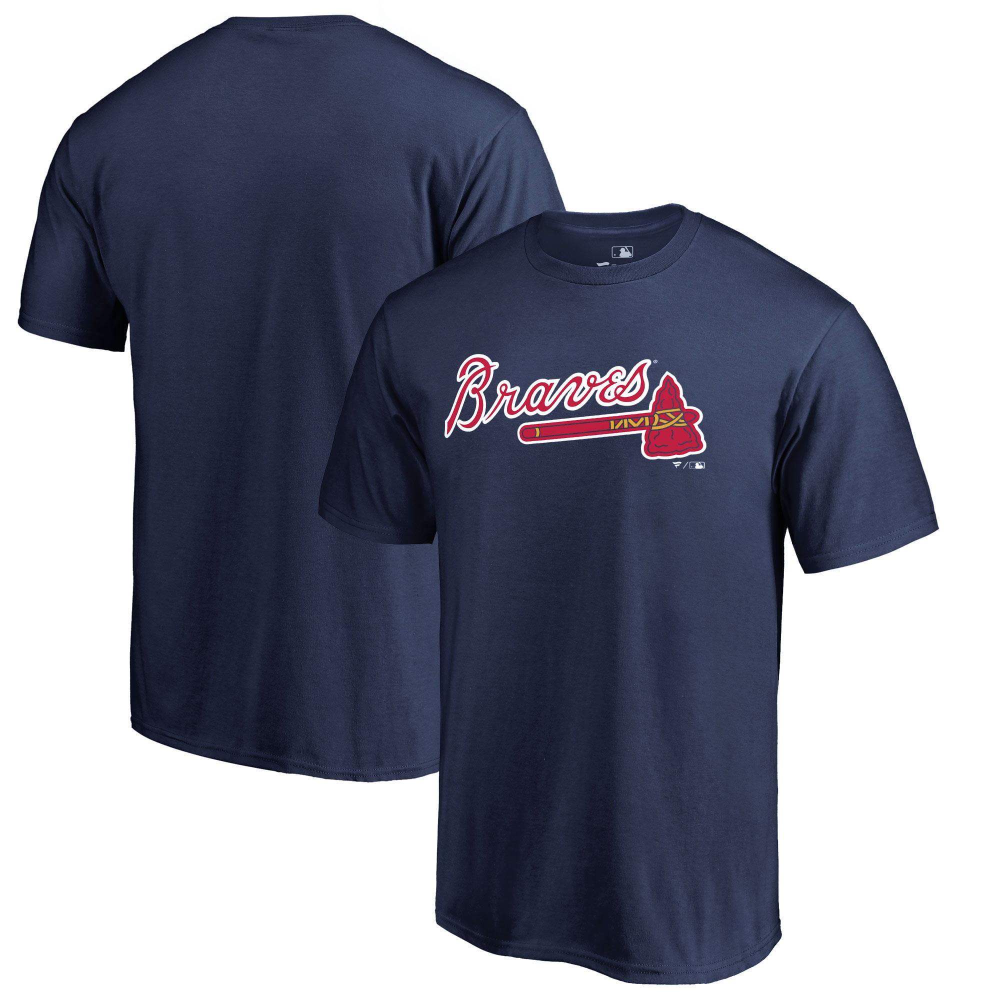 Atlanta Braves Fanatics Branded Team Wordmark T-Shirt - Navy