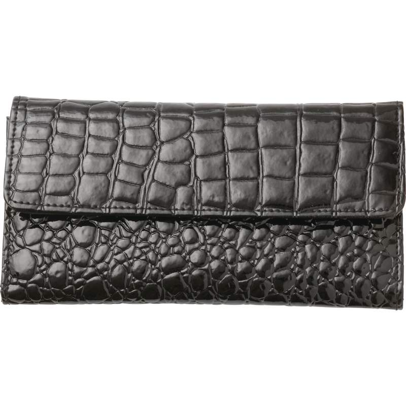 Ladies Black Wallet -alligator - Luwal4