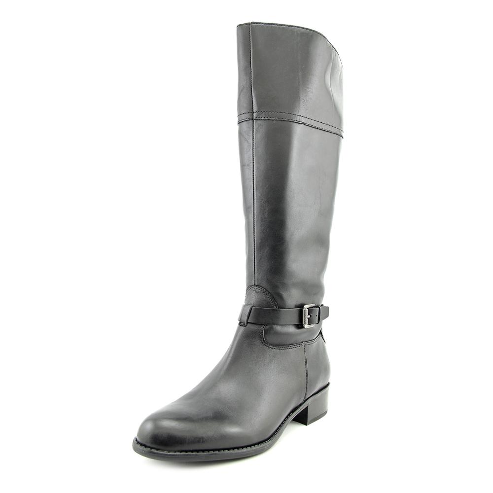 Franco Sarto Corda Women Round Toe Leather Black Knee High Boot by Franco Sarto