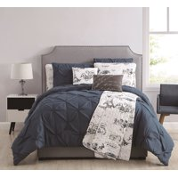 12 Piece Ohlala Teal/Gray Bed in a Bag and Quilt Set Set