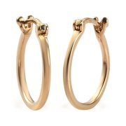 Shop LC Hoop Hoops Earrings 925 Sterling Silver Vermeil Yellow Gold Plated Unique Costume Promise Stylish Elegant Fashion Women Gifts Jewelry