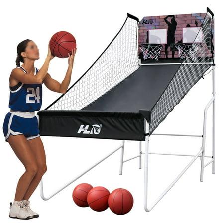 Home Dual Shot Basketball Arcade Game Electronic Basketball Game 2 Players LED Scoring Arcade