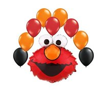 Elmo Face Balloon Bouquet 10 pc