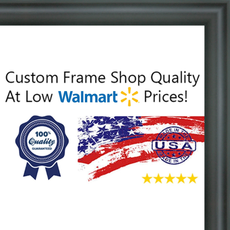 25x25 - 25 x 25 Rounded Black Solid Wood Frame with UV Framer\'s ...