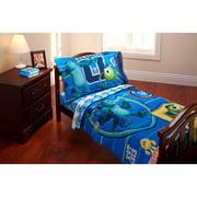 "Disney Monsters Inc. ""Property of MU"" 3-Piece Toddler Bedding Set with BONUS Matching Pillow Case"
