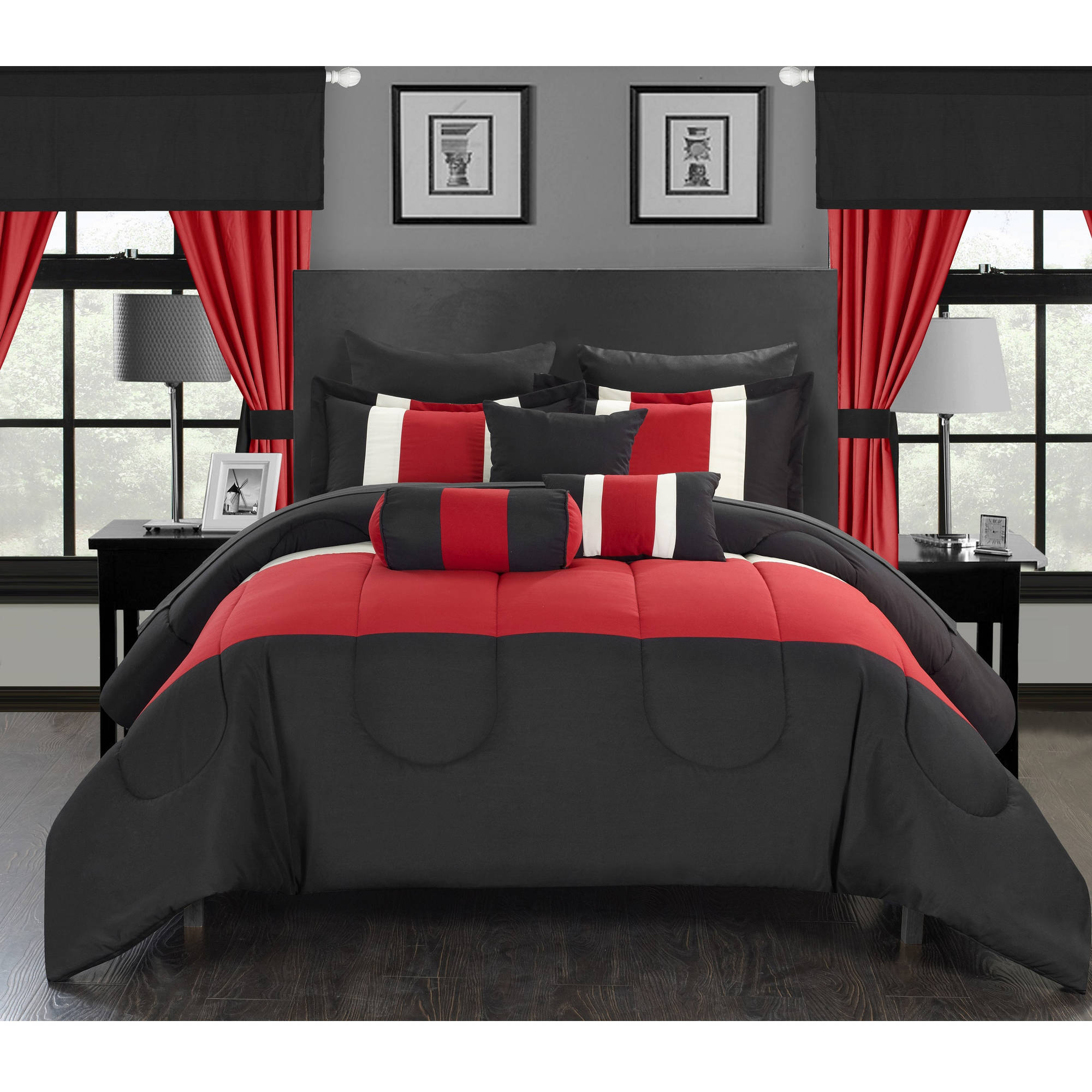 Chic Home Whitehall 20-Piece Bed-in-a-Bag Comforter Set