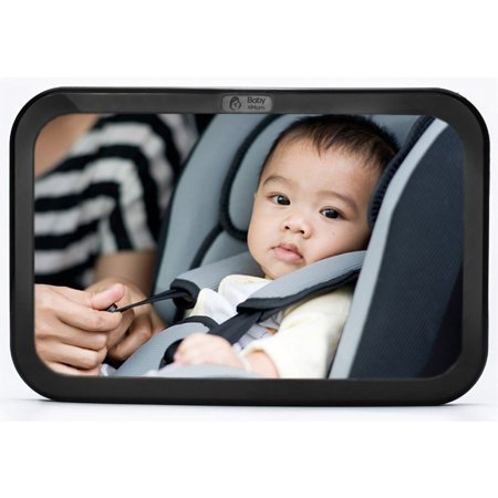 Back Seat Mirror - Rear View Baby Car Seat Mirror by Baby & Mom - Wide Convex Shatterproof Glass and Fully