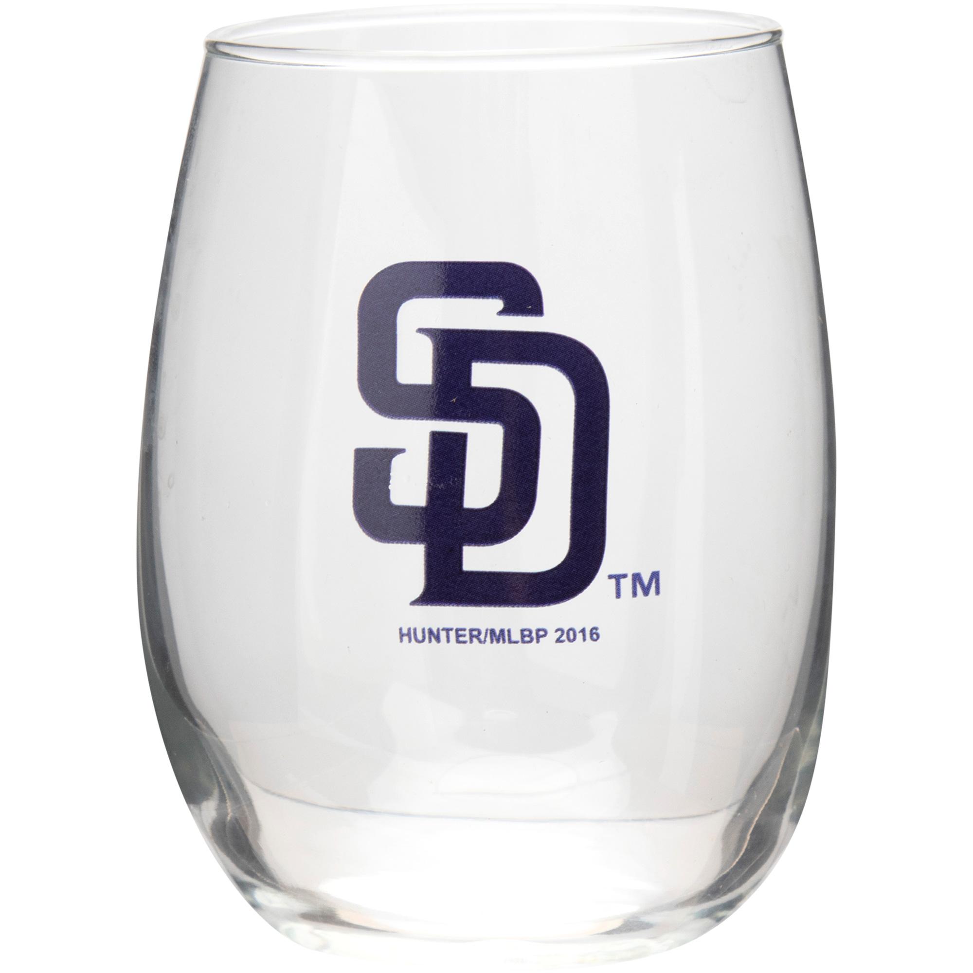 San Diego Padres 15oz. Stemless Wine Glass - No Size