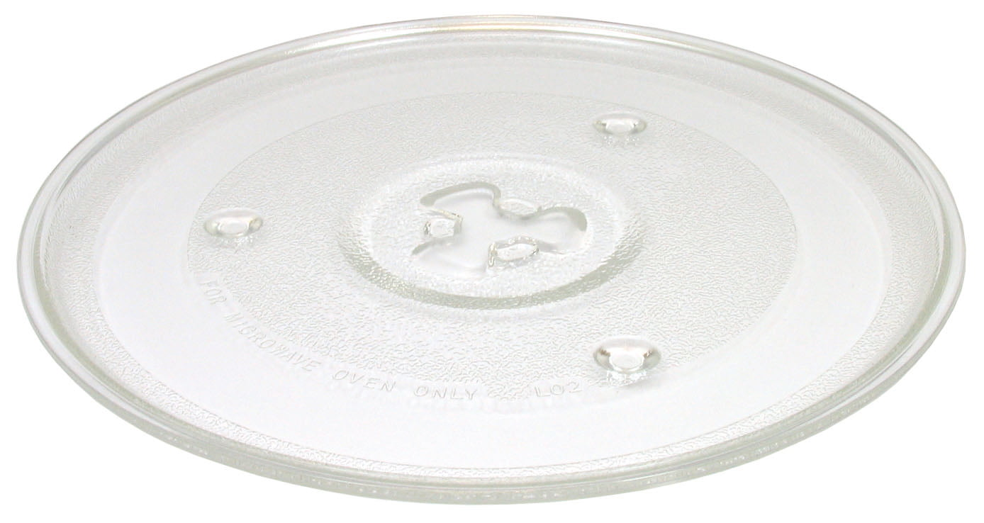 255mm 2-Pack Replacement for Emerson MW8700W Microwave Glass Plate 10 Compatible with Emerson 203600 Microwave Glass Turntable Tray