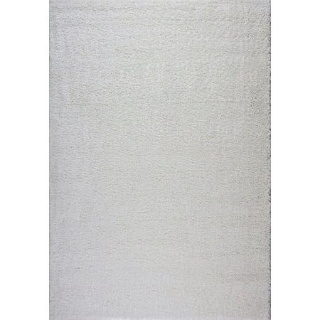 """Ladole Rugs Solid Color Shaggy Meknes Durable Beautiful Turkish Indoor Small Mat Doormat Rug in Ivory, 1'10"""" x 2'11"""" - image 4 of 4"""