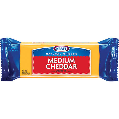 Kraft Natural Cheddar Medium Chunk Cheese, 8 oz
