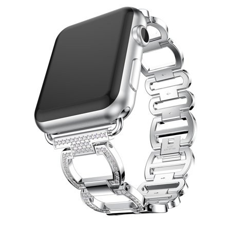 Diamonds Stainless Steel Bracelet Watch Band Strap For Apple Watch Series 3 42MM