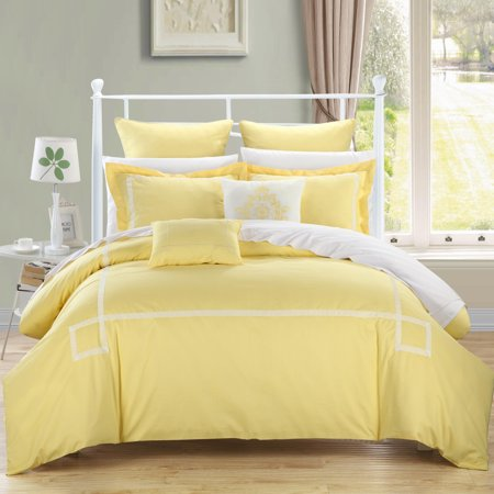 Woodford Yellow 11 Piece Embroidered Comforter Bed In A Bag Set