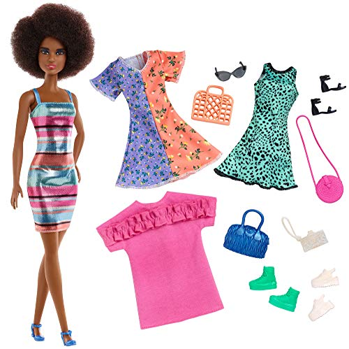 """Classic Little Black Dress Shoes Purse Night Fashion Pack For Barbie 12"""" Doll"""