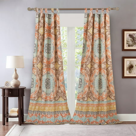 Barefoot Bungalow Olympia Mediterranean Medallion Curtain Panel Pair by Barefoot Bungalow