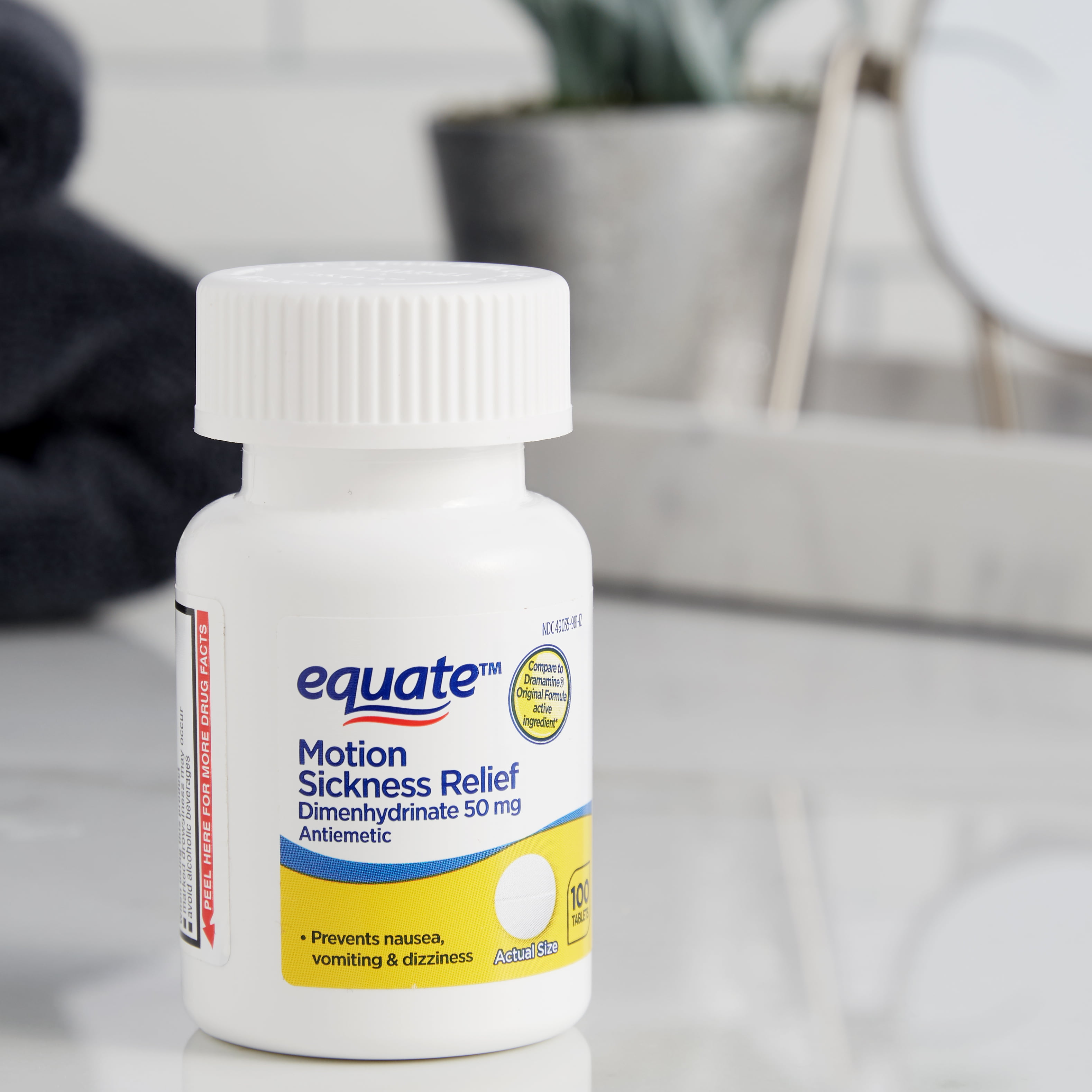 Equate Fast Acting Motion Sickness Relief Dimenhydrinate