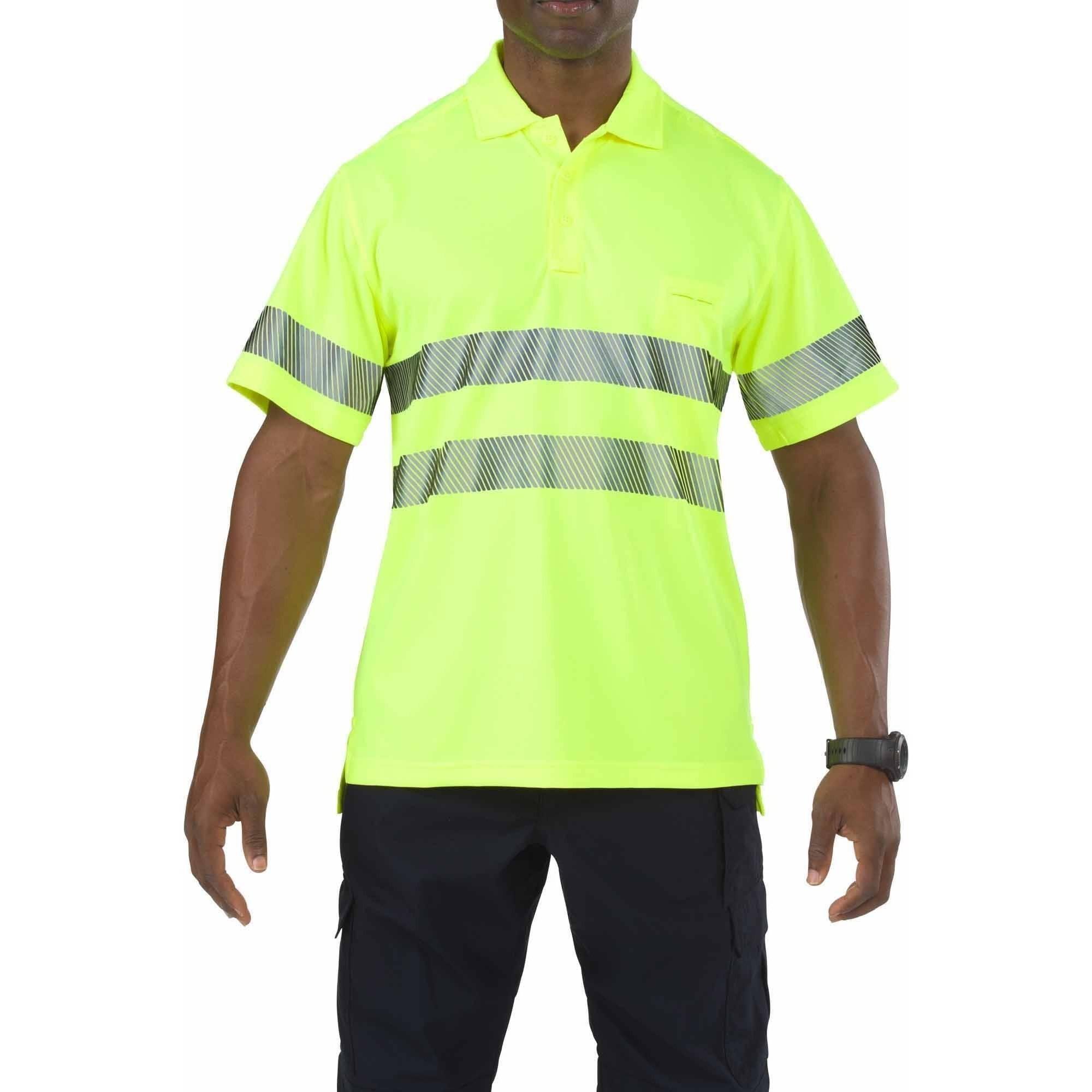 Hi-vis Short Sleeve Polo, Hi Visibility Yellow