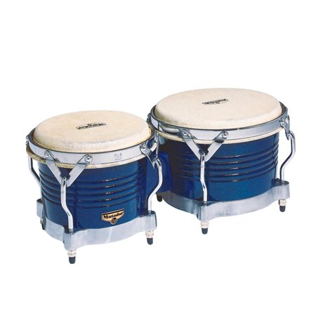 - Latin Percussion LP Matador Wood Bongos Blue Gold Hardware