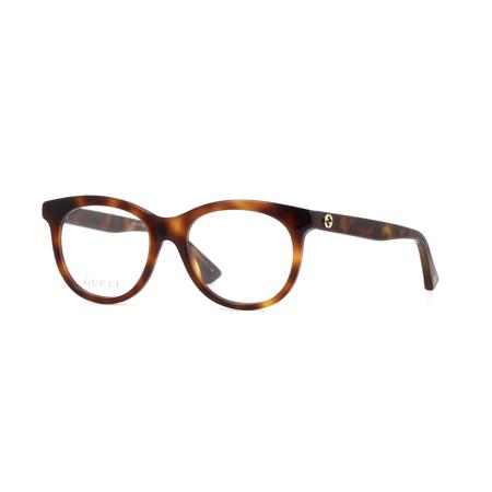 87287847f3528 Gucci GG0167O 002 Eyeglasses Havana Brown Frame 51mm - Walmart.com